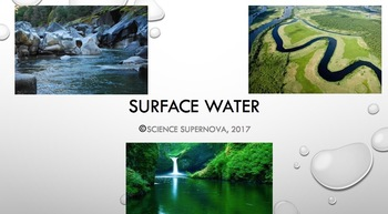 Surface Water Power Point With Student Note Taking Guide