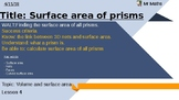 Surface area of prisms - including cylinders