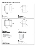 Surface area worksheet - Total and Lateral of rectangular prism