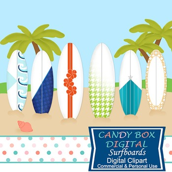 Surfboard Clip Art - Commercial Use OK
