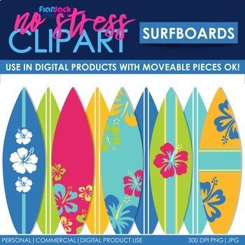 Surfboard Clip Art (Digital Use Ok!)