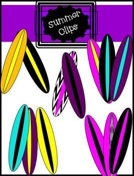 Surfboard Clip Art Fun Colors