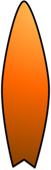 Surfboard Clip Art (Rainbow)