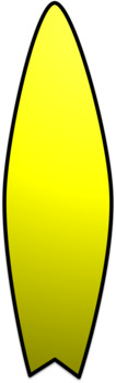 Surfboard Clip Art (Rainbow)