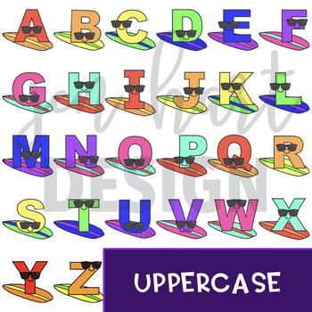 Surfboard Clip Art -Surfboard Letters {jen hart Clip Art)