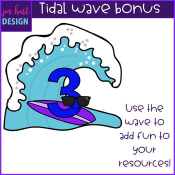 Surfboard Clip Art -Surfboard Numbers {jen hart Clip Art}