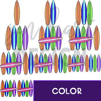 Surfboard Clip Art - Surfboard Tally Marks {jen hart Clip Art}
