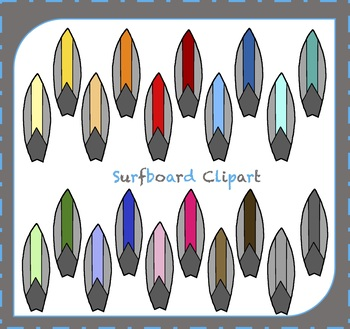 Surfboard Clipart / Surfing Clipart / Surf Clipart / Summer Clipart