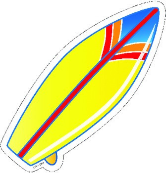 Surfboard Cut Out for Beach or Ocean Themed Classroom