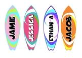 Classroom Door - Surfboards