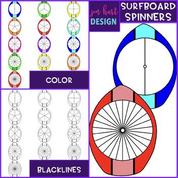 Surfboard Spinner Clip Art {jen hart Clip Art}