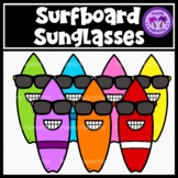 Surfboard Sunglasses Clipart