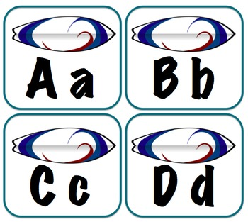 Surfboard Word Wall labels
