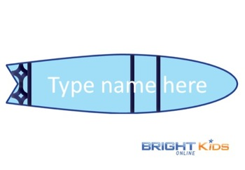 Classroom labels (surfboard themed)