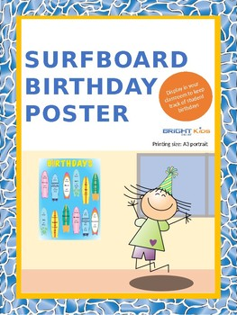 Birthday poster (surfboard themed)