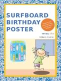 Birthday poster (surfboard themed)