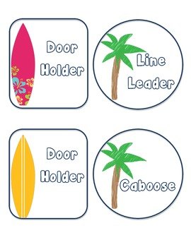 Surfboard/Palm Tree Floor Numbers - Lining Up