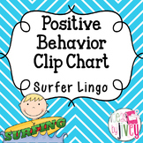 Positive Behavior Clip Chart - EDITABLE (Surfer Lingo)