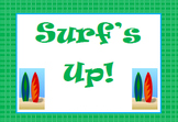 Surfer Themed Behavior Clip Chart