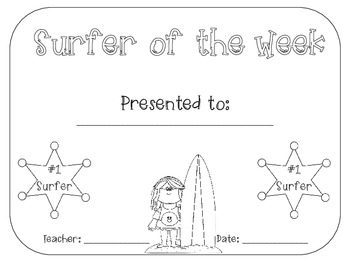 Surfer of the Week Packet