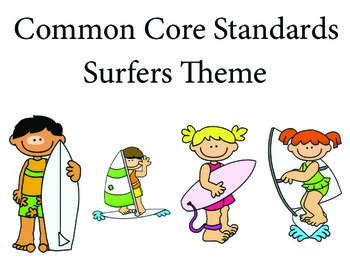 Surfers 1st grade English Common core standards posters