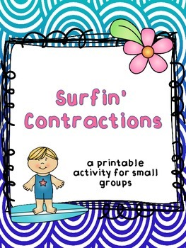 Surfin' Contractions Printable Activity