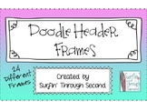 Surfin' Doodle Header Frames