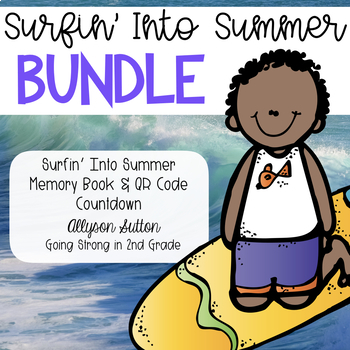 Surfin' Into Summer Memory Book & 10 Day QR Code Countdown
