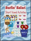 Surfin' Safari Short Vowel Activities CVC Literacy Centers