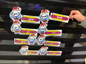 Sight Words!  Surfin Santa!  A Christmas Sight Word Recognition Game!