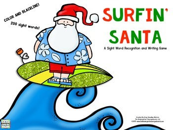 Surfin Santa Sight Words - EDITABLE