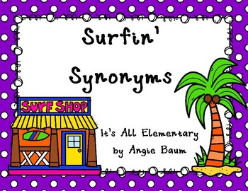 Surfin' Synonyms Matching Activity