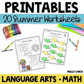 Summer NO PREP Printables!