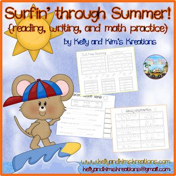 Surfin' through Summer ~ A Summer Work Packet
