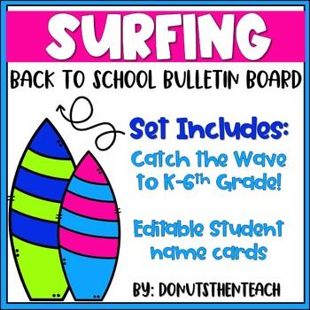 Surfing Back to School Bulletin Board
