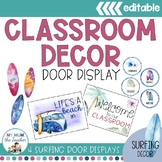 Classroom Door Display | Surfing Classroom Decor