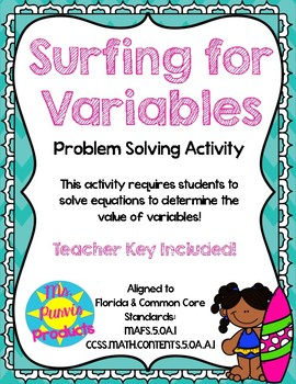 Surfing For Variables MAFS.5.OA.1