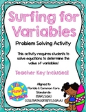 Surfing For Variables - Order of Operations Activity