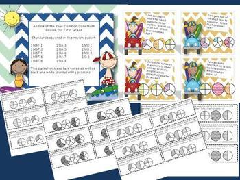 Surfing Into Second Grade- EOY Common Core Math Review