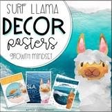 Surfing Llama Classroom Decor Posters // beach theme