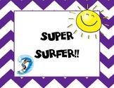 Surfing Theme Behavior Clip Chart