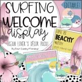 Surfing Theme Classroom Decor / Welcome Bulletin Board / D