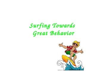 """""""Surfing Towards Great Behavior"""" behaviorial chart"""