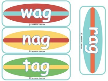 Surfing Word Families (CVC Words) (Distance Learning)