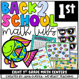 August Math Centers: First Grade Back-to-School #lastday