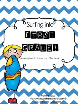 Surfing into First Grade a first day activity packet