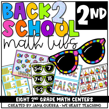 August Math Centers: SECOND Grade Back-to-School