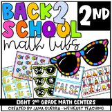 Back-to-School Math Centers: SECOND Grade Math Games