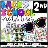 Back-to-School Math Centers: SECOND Grade Math Games