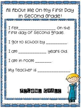 Surfing into Second Grade a First Day Activity Packet